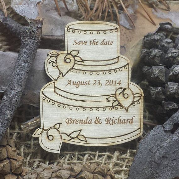 These wooden magnets will serve as a great reminder for all the special people in your life by letting them know when your big day is, and because they are magnets they are easy to keep in a handy place where they will be seen every day! You could also use these magnets as wedding favours and set them out at each place setting for your guests to take home with them!  These magnets are laser cut from Baltic birch so they will add a beautiful natural element to your wedding.  If you would…