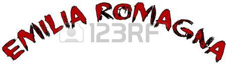 Emilia Romagna text sign illustration writen in Italian on white background