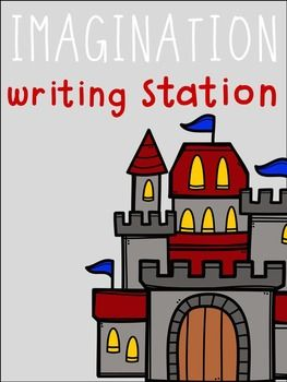 Imagination Writing Station - Creative and Fairy Tale Writing! Themed writing prompts, writing ideas, writing papers, and vocabulary cards for your writing station.  I use these during Daily 5 Writing in my kindergarten classroom all year long!  These writing worksheets even come with a display for your writing wall!  Writing papers are differentiated and the sentence starters allow for kindergarten, first grade, and even second grade to use these!