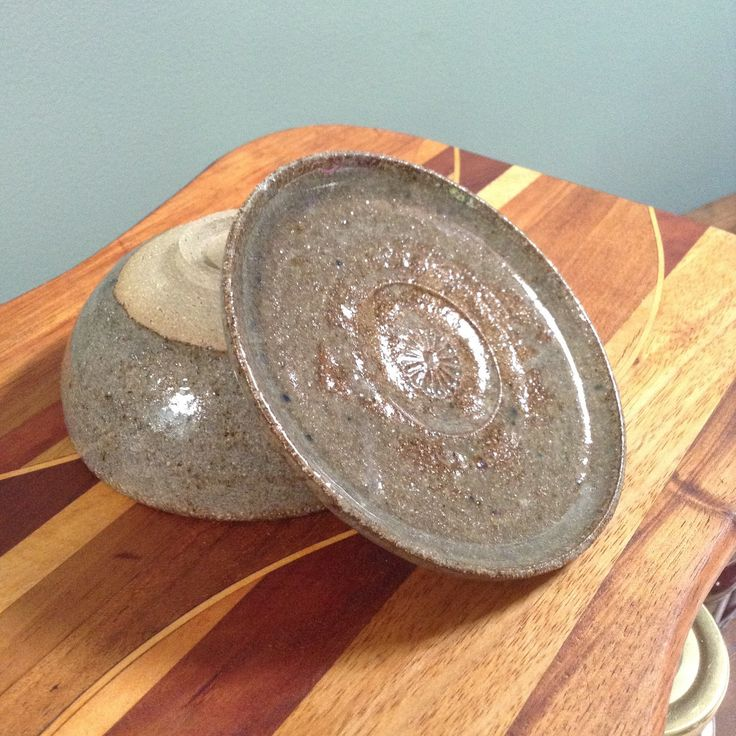 Stoneware cup and saucer. Japanese style. Oak ash glaze with cobalt speckle. fionawallaceceramics.com