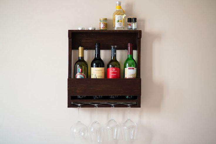 Купить Открытый шкаф для хранения вина и бокалов в винтажно-деревенском стиле - разноцветный, пикник, дача