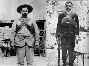 revolucion mexicana -Pancho Villa and Emiliano Zapata