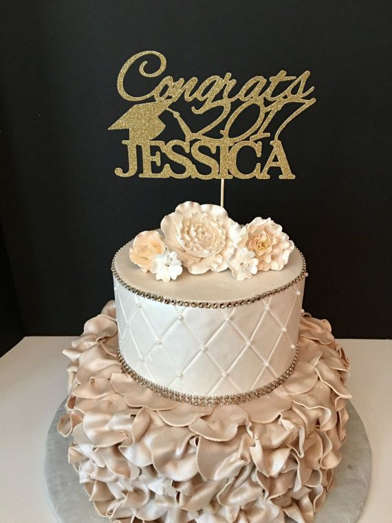 Graduation Cake Topper, Personalized Graduation Cake Topper