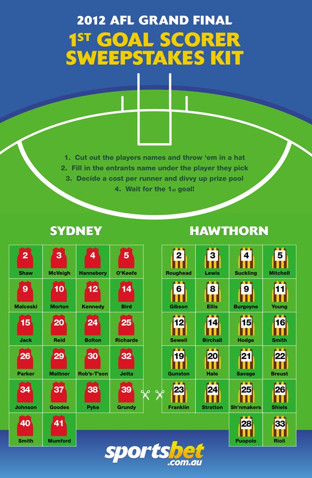 AFL Grand Final Sweepstake