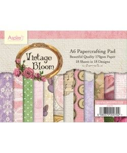 Vintage Bloom A6 Papercrafting Pad