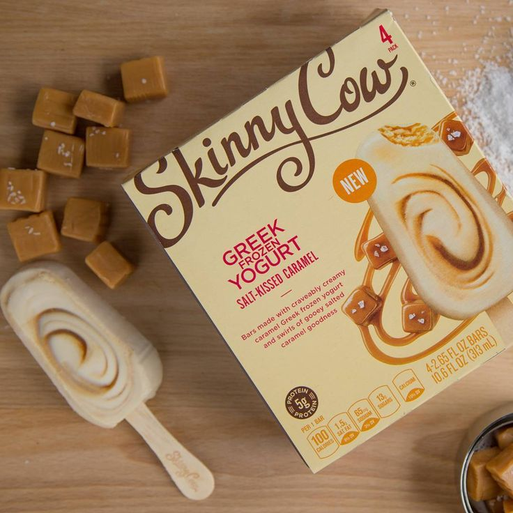"106 Me gusta, 14 comentarios - Skinny Cow (@skinnycowus) en Instagram: ""Our NEW salted caramel bars are craveably creamy and made with Greek frozen yogurt and swirls of…"""
