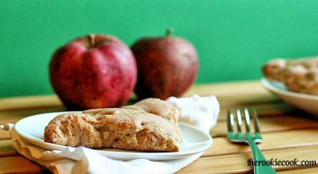 Apple Spiced Scones with Cinnamon Glaze ~ The Rookie Cook Tasty fall ...