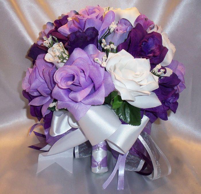 Wedding Bridal Bouquet Lilac Lavender Purple Calla Lilies Hydrangea