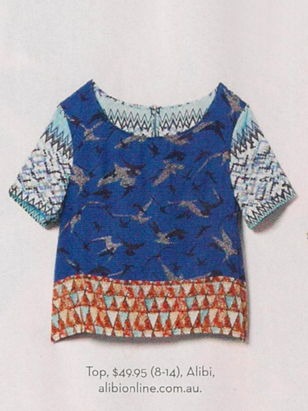 Batik Bird Print Top by Alibi at AlibiOnline. As seen in Nov issue.