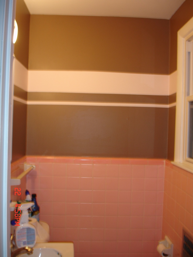 43 best pink bathroom redo images on pinterest bathroom for Red and brown bathroom decor