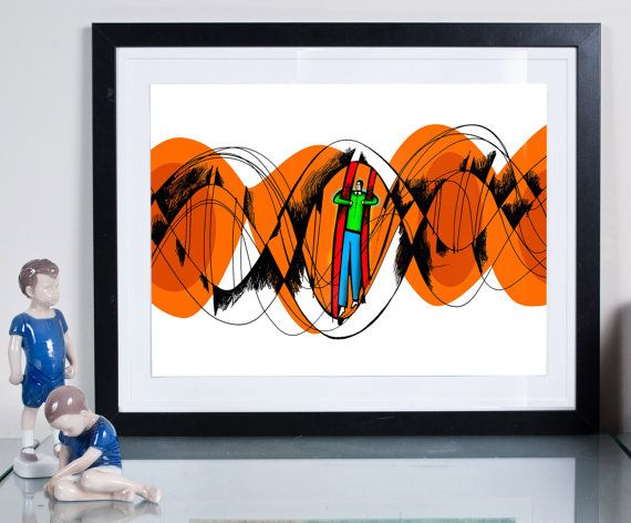 DNA ... Illustration art giclée print signed by the by Tomek Wawer #tomasz wawer #poster