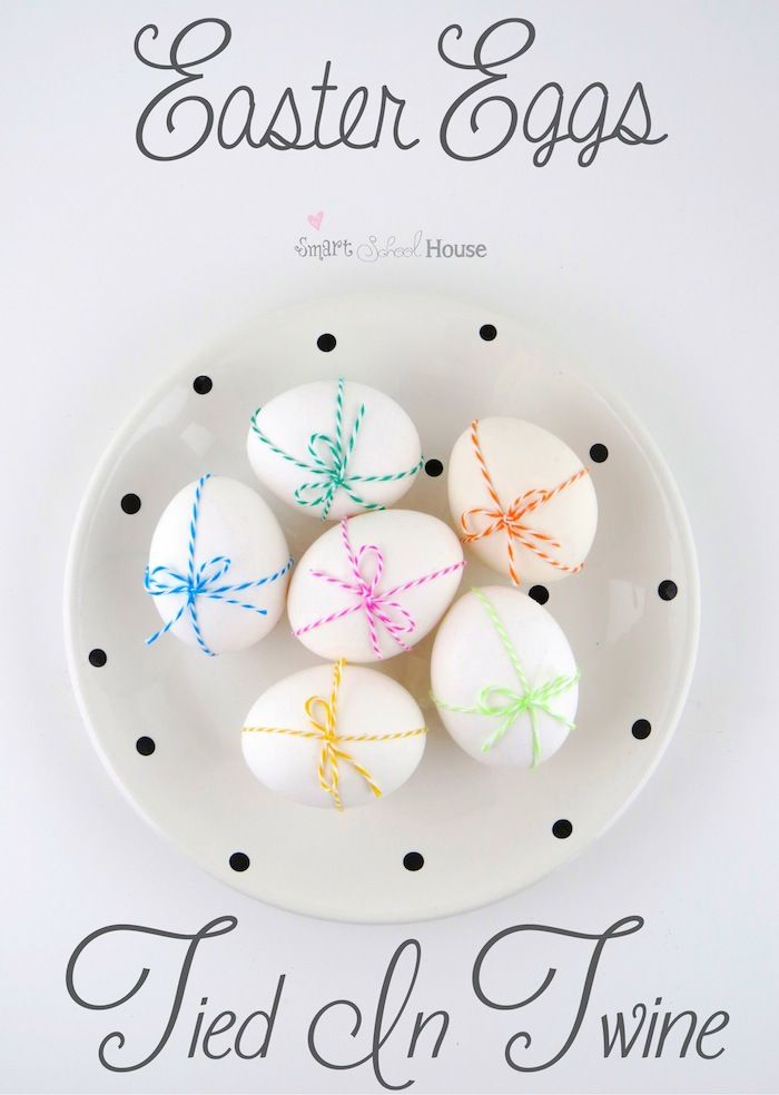 This is a super cute way to do a super lazy egg decorating technique for Easter...don't think my kids would approve but one day when they are older this might adorn my table.