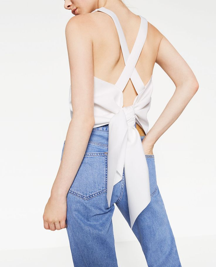 Image 4 of KNOT BACK TOP from Zara