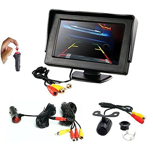 REARMASTER Easy Installation 12V Car Backup Camera and Monitor Kit with RCA connection,Power On/Off Button Integrated in Cigarette Lighter,Two Installations Camera + 4.3 inch Desktop Monitor  This backup camera kit is with the RCA extention cable with a 12V cigarette lighter adaptor for power supply,all you need to install is to connect the monitor and backup camera via RCA cable connection only,you can power it on or off via the one-key button integrated in cigarette lighter, NO NEED ...