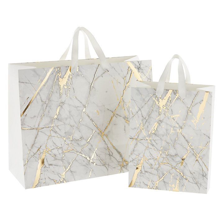 Buy John Lewis Marble Gift Bag, Small Online at johnlewis.com