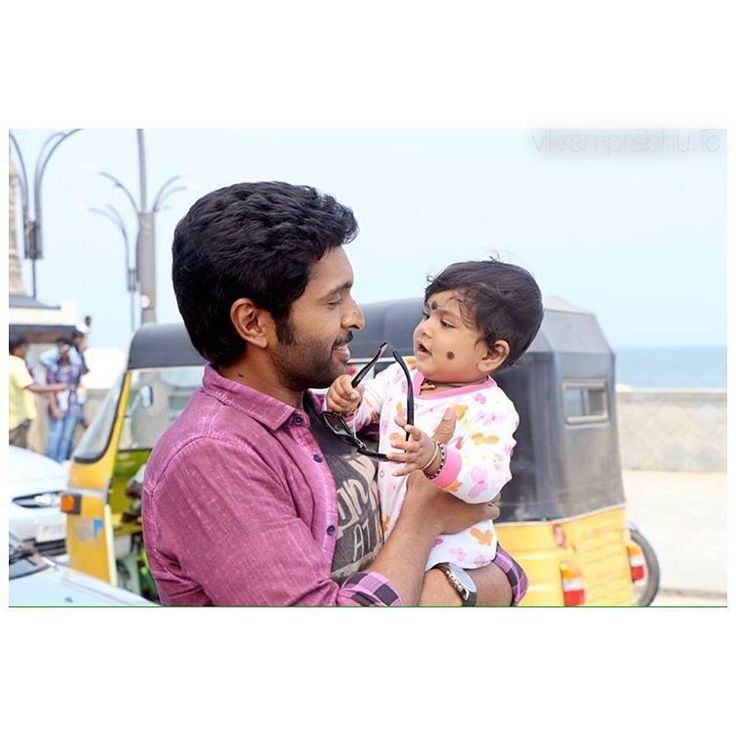 Vikram Prabhu with cute baby..