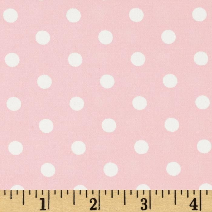 Pimatex Basics Polka Dots Pale Pink from @fabricdotcom  From Robert Kaufman Fabrics, this cotton print fabric features Polka dots. Perfect to use for quilt or craft projects, apparel and home décor accents. Colors include white and pale pink.