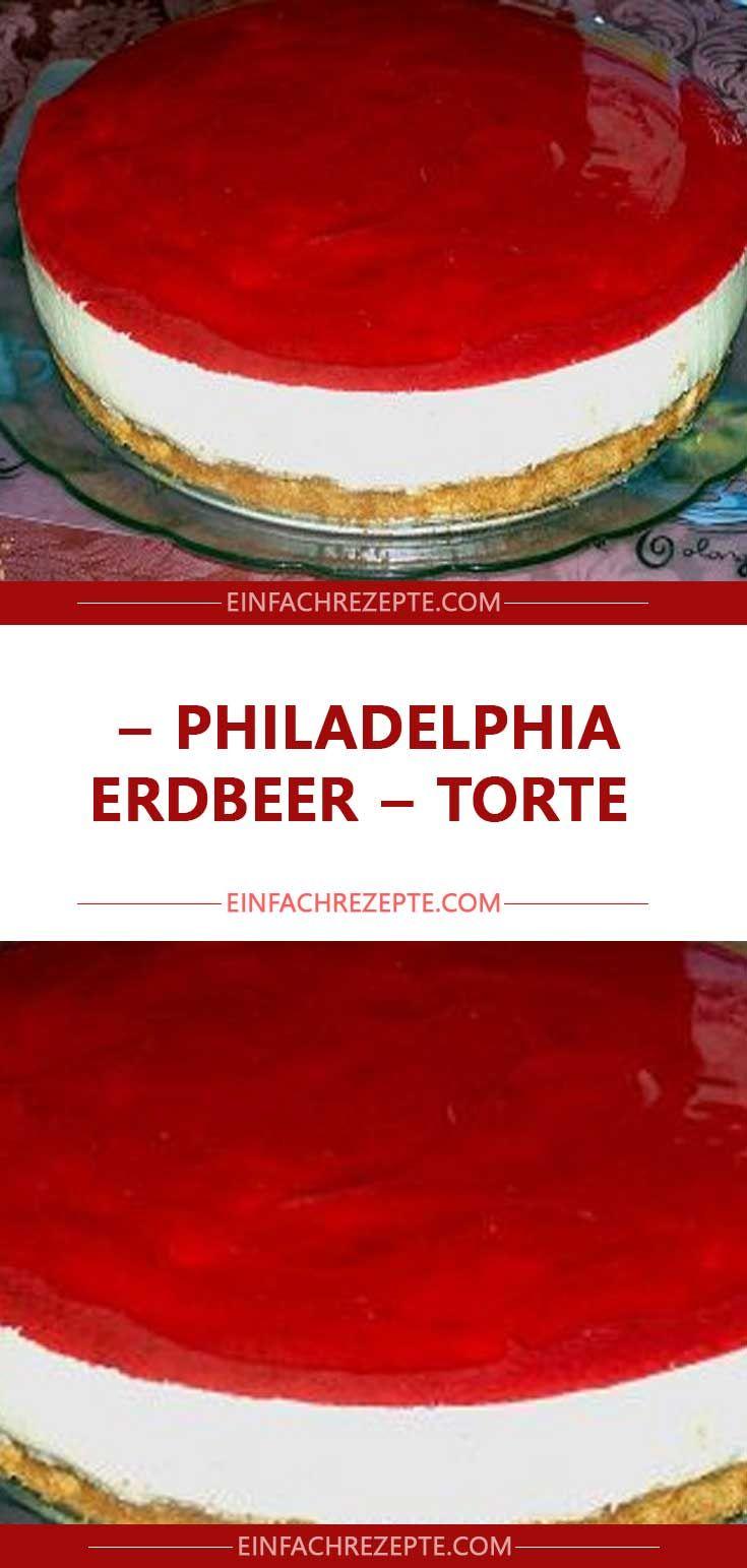 Philadelphia – Erdbeer – Torte