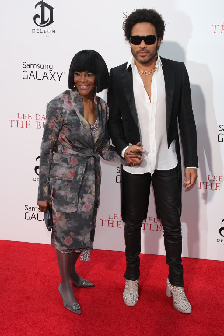 Cicely Tyson and Lenny Kravitz at The Butler premiere in NYC