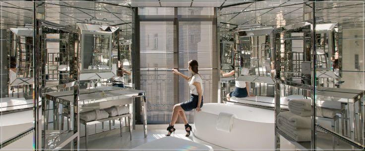 Rooms & Suites - Le Royal Monceau LE ROYAL MONCEAU | PARIS --- my dream. Shiny mirrors everywhere !
