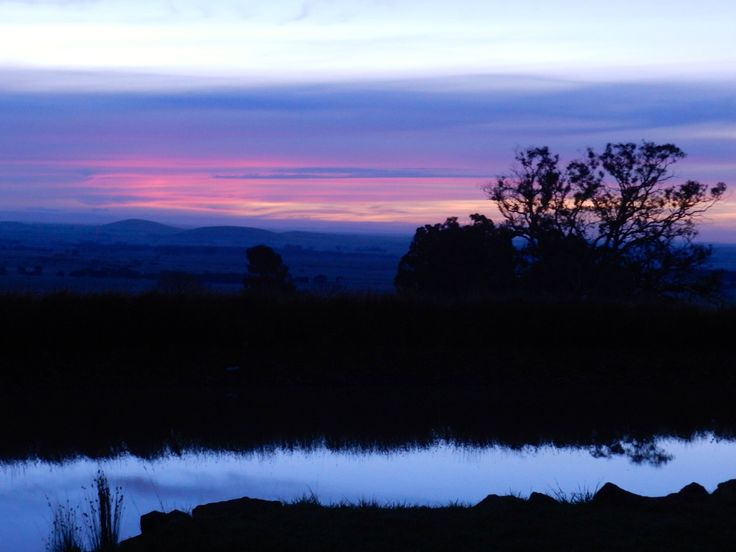 A little colour to add interest to an autumn sunset, Smeaton, Central Victoria