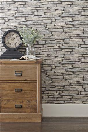 Buy Grey Slate Wallpaper from the Next UK online shop