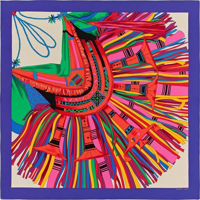 Cuir du Désert II - Hermes silk twill giant scarf, 56