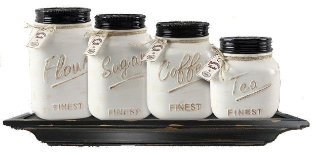 farmhouse kitchen canisters and jars