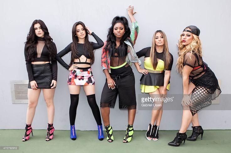 Normani Hamilton, Camila Cabello, Dinah Jane Hansen, Lauren Jauregui and Ally Brooke of Fifth Harmony attend 102.7 KIIS FM's 2015 Wango Tango backstage at StubHub Center on May 9, 2015 in Los Angeles, California.