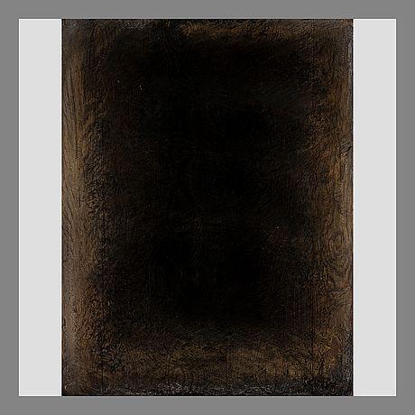 Kain Tapper: Nimetön, 1978, puureliefi, 71,5x59 cm - Bukowskis 2015