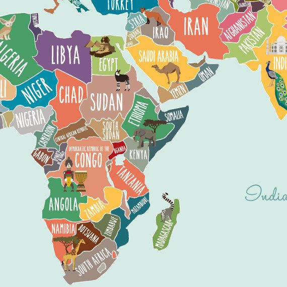 The 25 best world map decal ideas on pinterest wall stickers world map decal countries of the world map kids country world map poster gumiabroncs Images