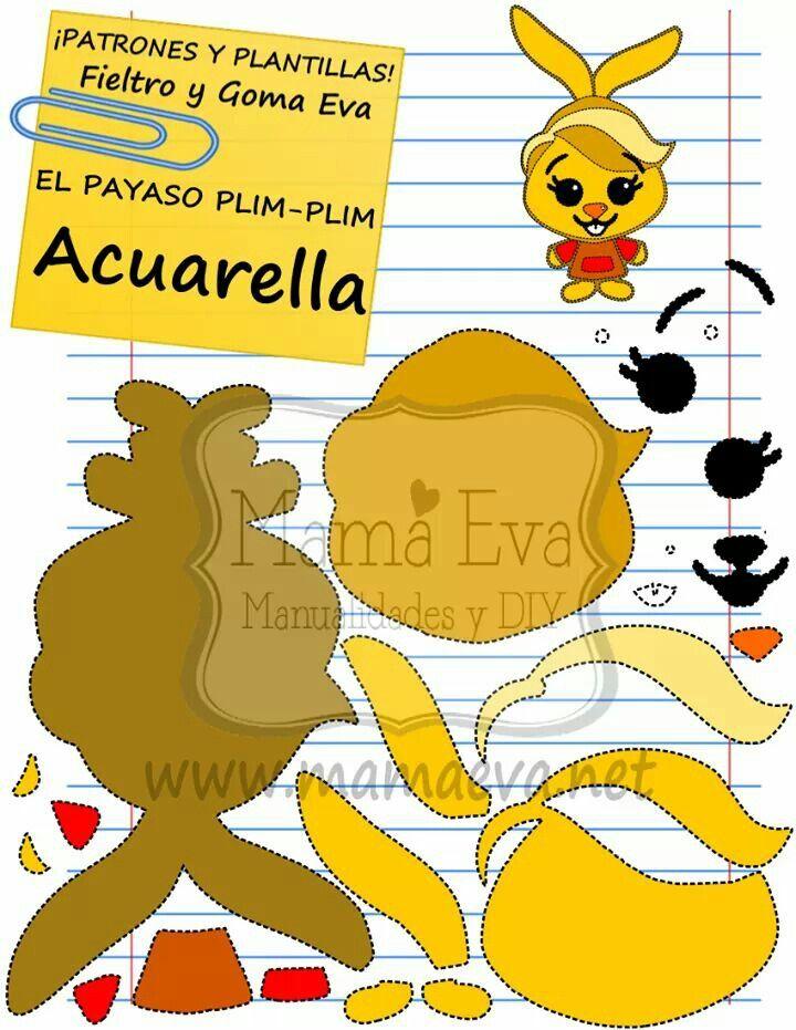 Acuarella, Plim Plim y todos sus amigos los tienes en http://www.mamaeva.net