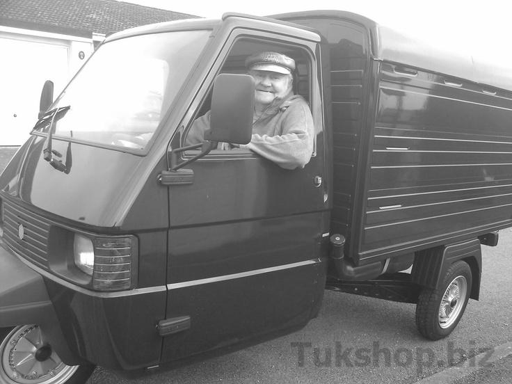 Tony in Cornwalll takes delivery of his new Piaggio Ape TM Van form www.tukshop.biz.