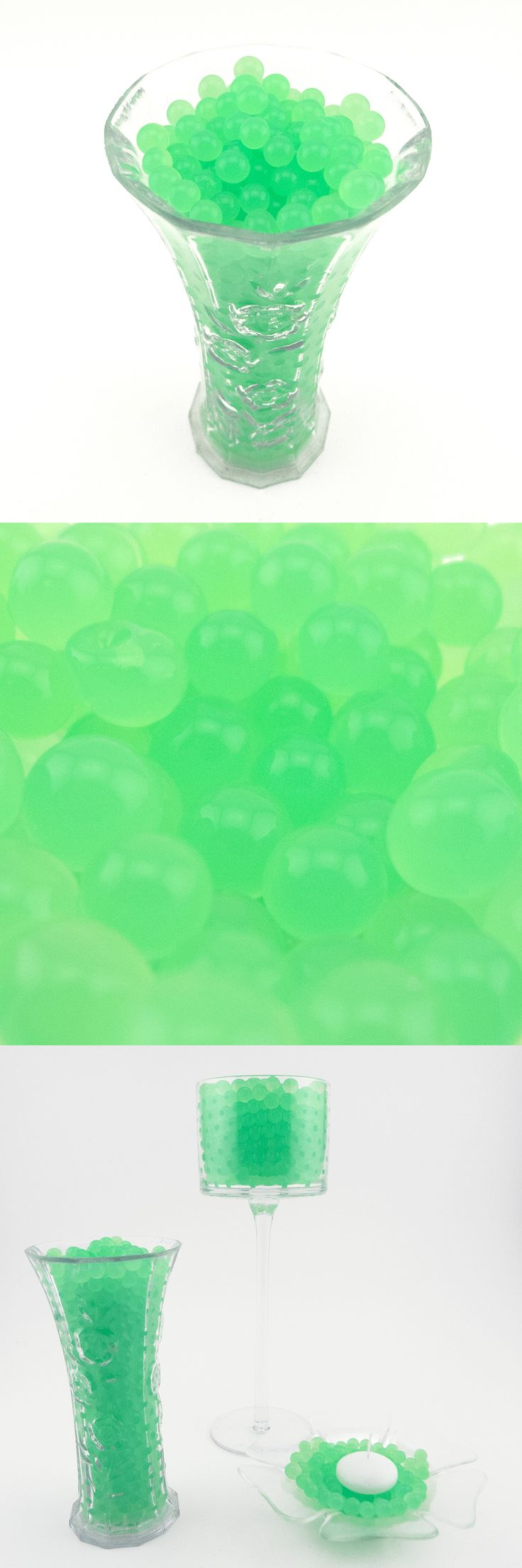 8oz or 1lb Apple Green Water Beads Magic Water Absorbent Pearls Gel Jelly Balls Crystal Soil Aqua Gems Sensory Therapy #ifavorsupplies #themedparty #wedding