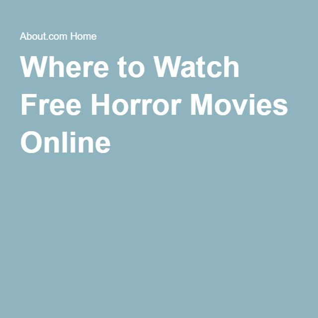 Where to Watch Free Horror Movies Online