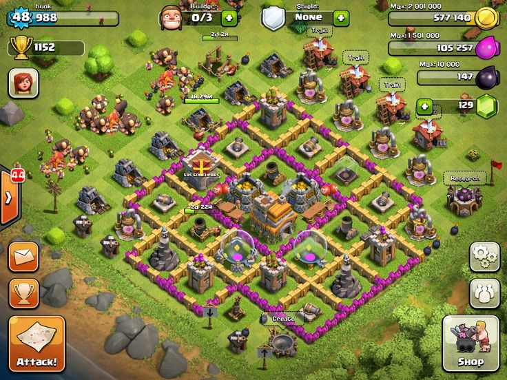 x mod clash of clans android скачать