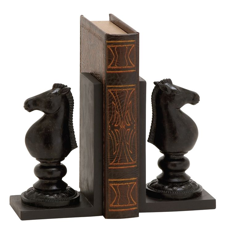 Polystone Chess Book Ends