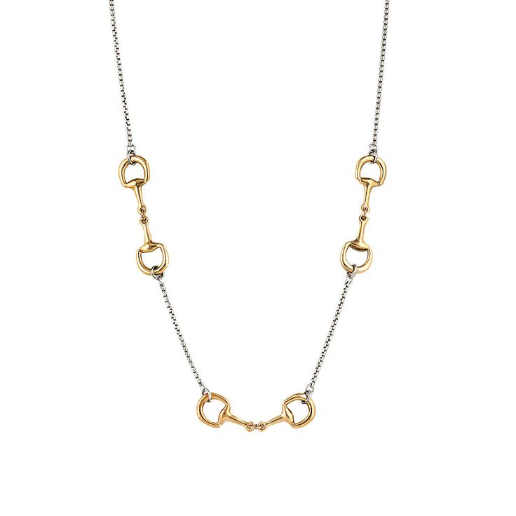 Designer Inspired Two-Tone Equestrian Necklace