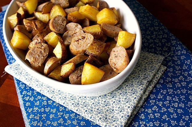 Sausage and Potatoes1 One Dish Sausage and Potato Roast