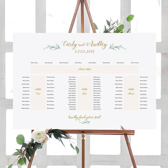 Banquet Seating Plan E Shape Printable Template 4 Tables Head Table 3 Banquet Tables Greenery 24x36 A1 Sizes Editable Pdf Seating Plan Wedding Seating Plan Banquet Seating