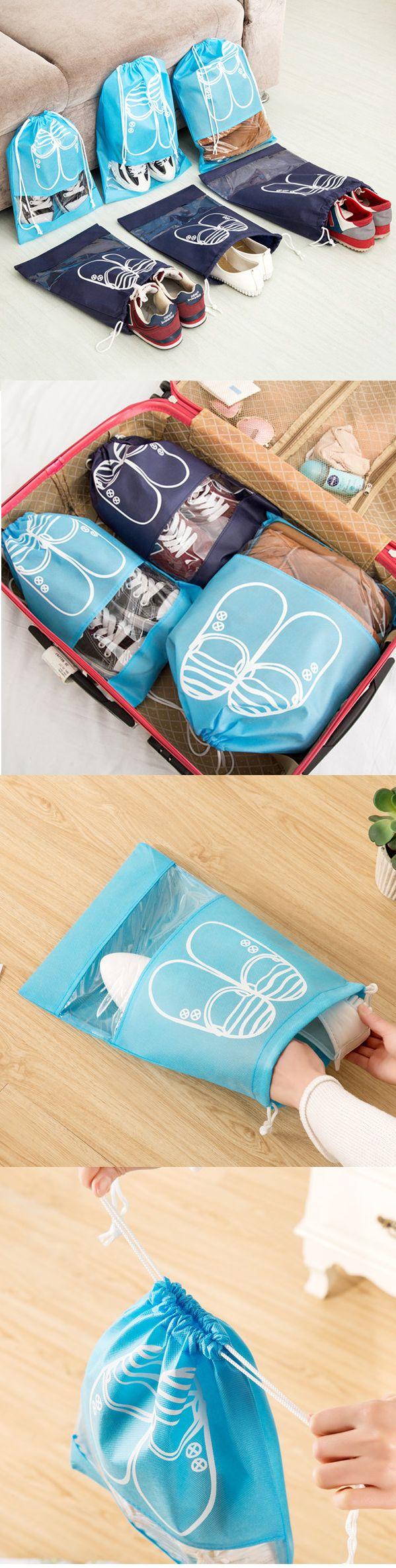 Woman Man 10 PCS Dust Bag Non-woven Fabrics Travel Shoes Bag Storage Bag
