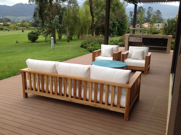 Antibes, Beautiful from every angle, the Antibes Sofa is suitable for any shaped outdoors space. Build of solid teak and upholstered with material suited to semi-exterior environments.