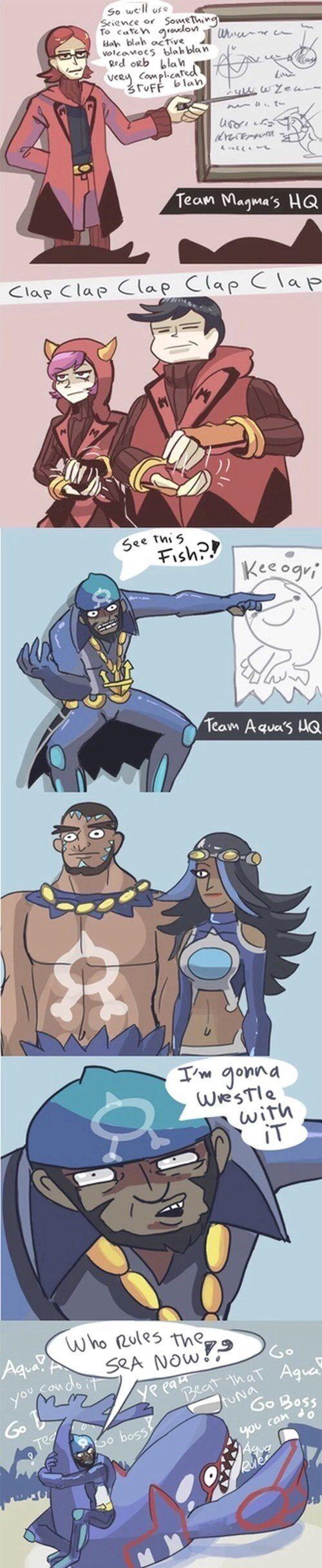 Team Magma vs. Team Aqua
