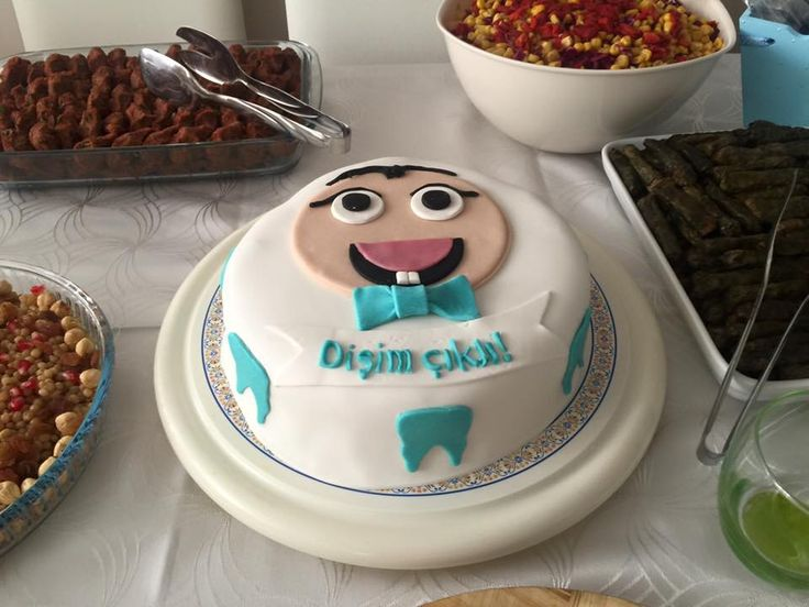 Oğlumun ilk diş pastası  #birthdaycake #fondantcake #forfirsttooth