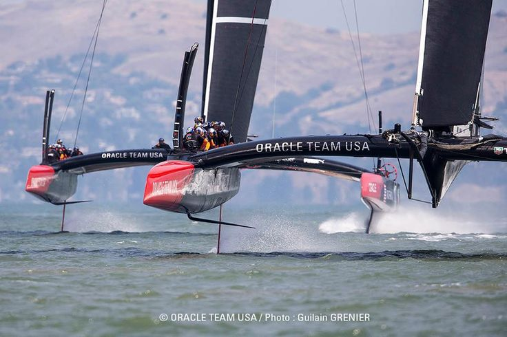 Ellison's boat in the America's Cup