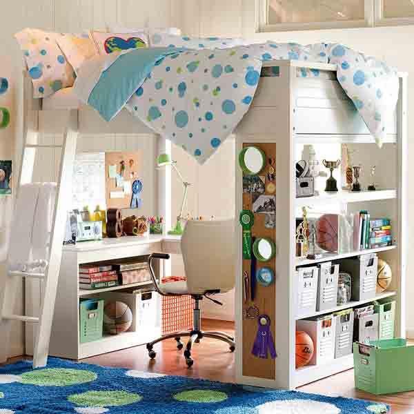 sleep study loftr full water based simply white - Tween Girl Bedroom Furniture