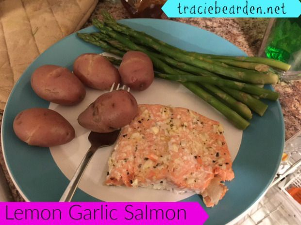 Lemon Garlic Salmon   clean eating recipes and more   traciebearden.net
