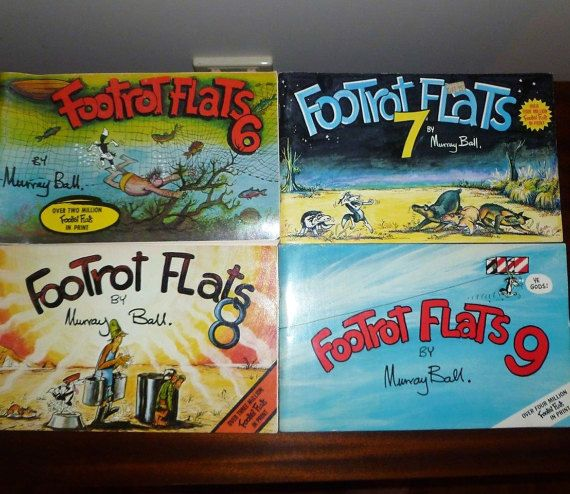 Vintage 1980s Footrot Flats Comic Books by Murray Ball - Volumes 6 to 9 / New Zealand Dog Tails Comic Books by V1NTA6EJO