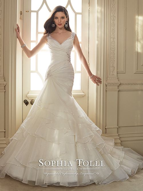 The 33 best Sophia Tolli Bridal images on Pinterest | Short wedding ...