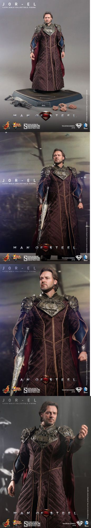 Toys And Games: Hot Toys Man Of Steel Jor El 1 6 Scale Figure Superman Russell Crowe Sideshow -> BUY IT NOW ONLY: $139.99 on eBay!